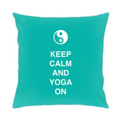 Подушка Keep calm and yoga on