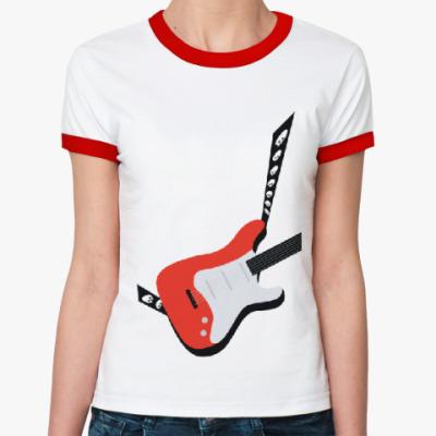 Женская футболка Ringer-T Guitar