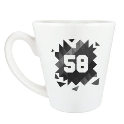 Чашка Латте Цифра 58 (Low Poly)