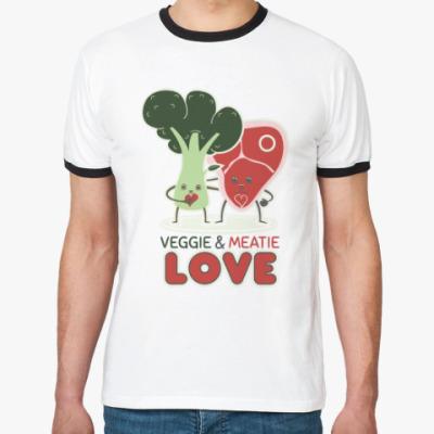 Футболка Ringer-T Овощно-мясная любовь