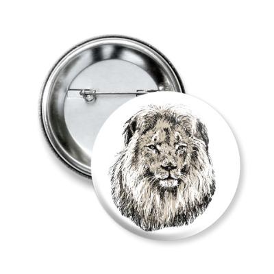 Значок 50мм Лев