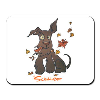 Коврик для мыши Осенний шнауцер