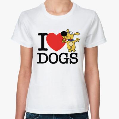 Классическая футболка Люблю Собак