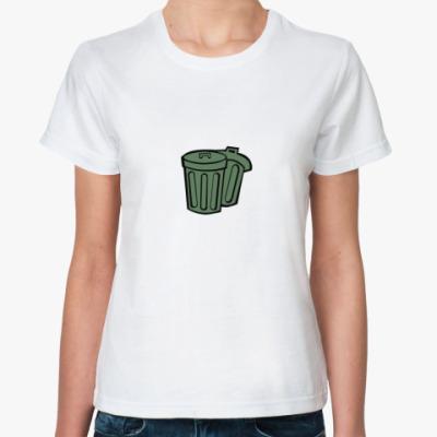 Классическая футболка trash can