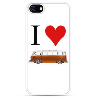 Чехол для iPhone I Love Bus