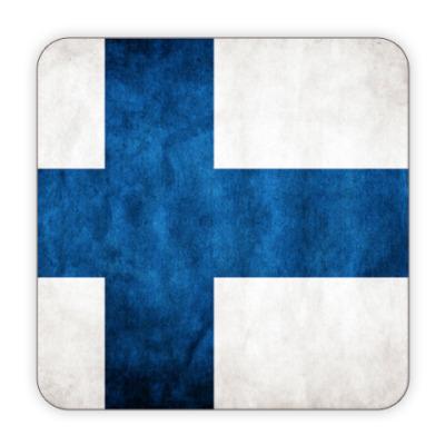 Костер (подставка под кружку) Финский флаг