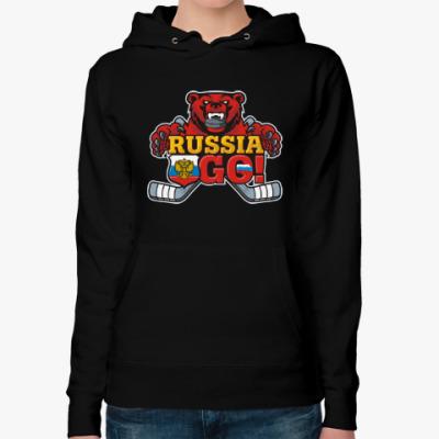 Женская толстовка худи Хоккей Сборная России Hockey
