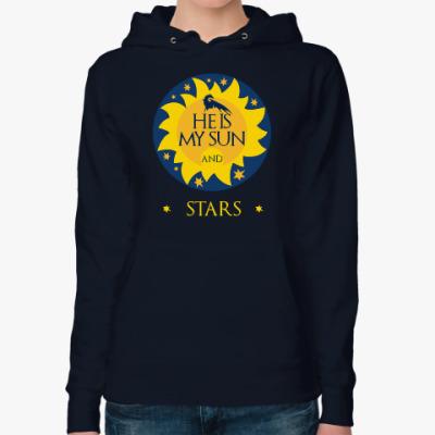 Женская толстовка худи My sun and stars. Game of Thrones