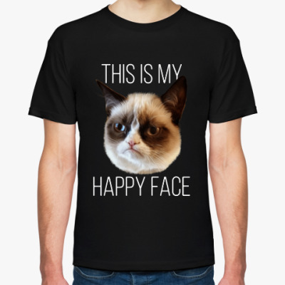 This is my happy face. Grumpy cat