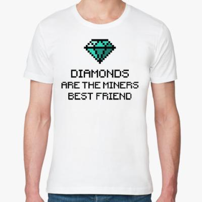 Футболка из органик-хлопка Minecraft - diamonds