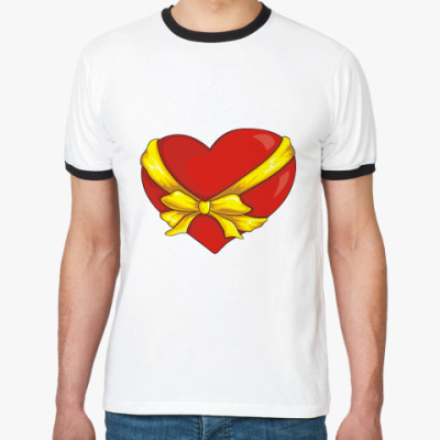 Футболка Ringer-T Сердце