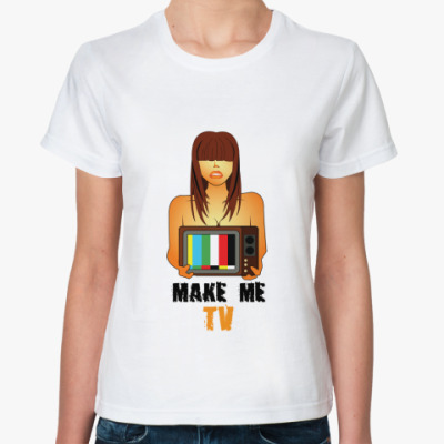 Классическая футболка Make me TV
