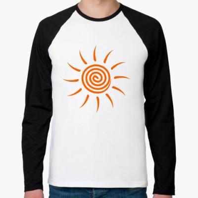 Футболка реглан с длинным рукавом The spring sun