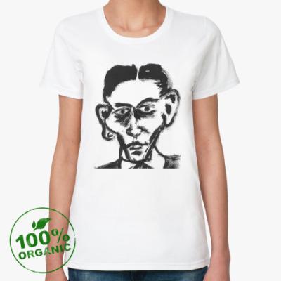 Женская футболка из органик-хлопка Франц Кафка