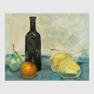 Постер Натюрморт с бутылкой, эскиз