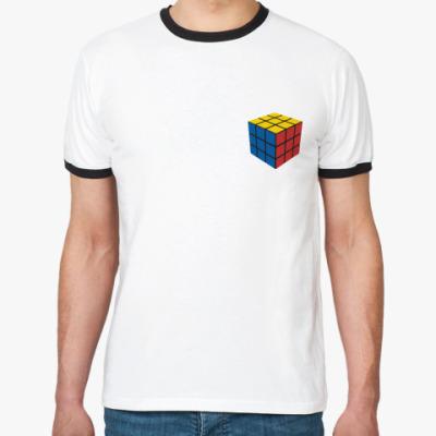 Футболка Ringer-T Кубик Рубика