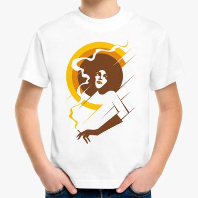 Детская футболка Ретро леди