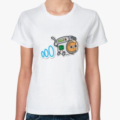 Классическая футболка Кот косманавт