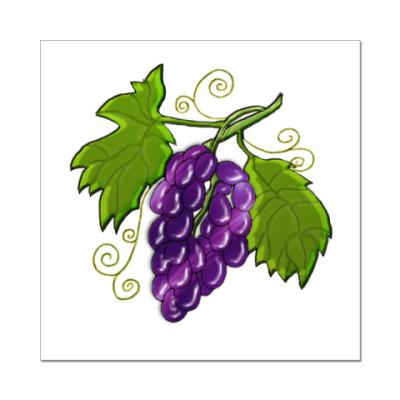 Наклейка (стикер)   Black Grapes