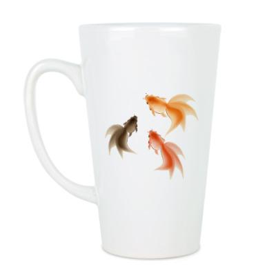 Чашка Латте Рыбки