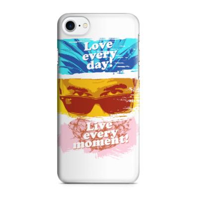 Чехол для iPhone 7/8 Люби каждый день, проживай каждый момент!