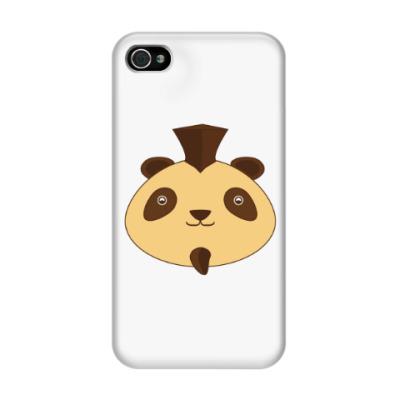Чехол для iPhone 4/4s Смешная панда панк