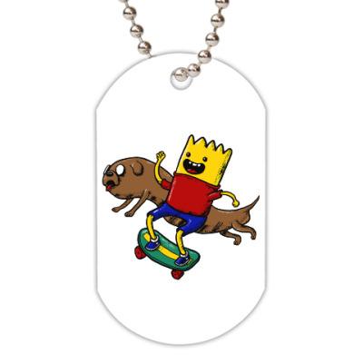 Жетон dog-tag Время приключений