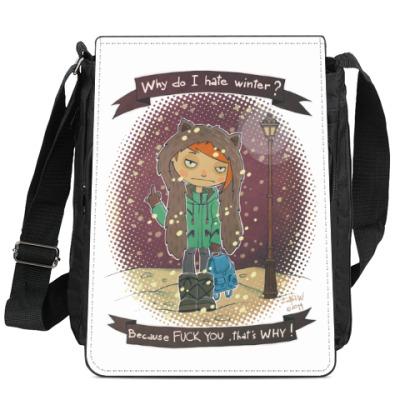 Сумка-планшет Fuck Winter