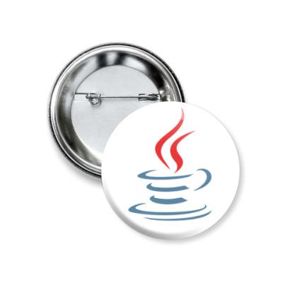 Значок 37мм Java