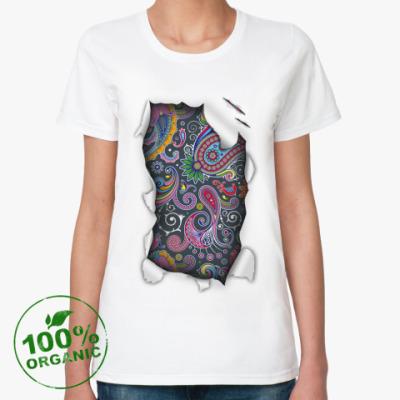 Женская футболка из органик-хлопка Пейсли