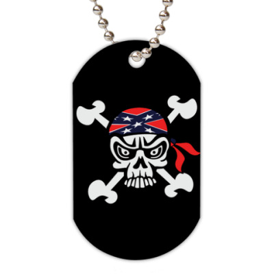 Жетон dog-tag Confiderate Scull