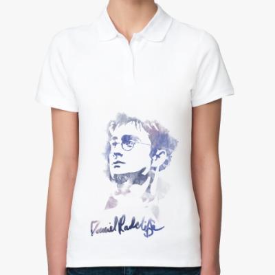 Женская рубашка поло Дэниэл Редклифф - Гарри Поттер