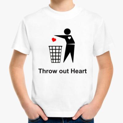 Детская футболка Throw out Heart