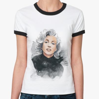 Женская футболка Ringer-T Marilyn Monroe