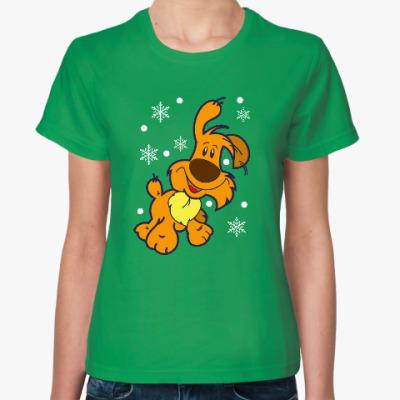 Женская футболка Год желтой собаки