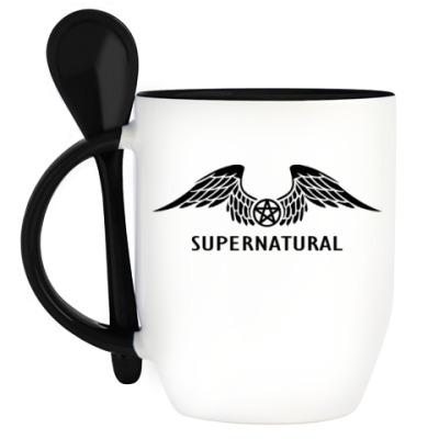 Кружка с ложкой Supernatural