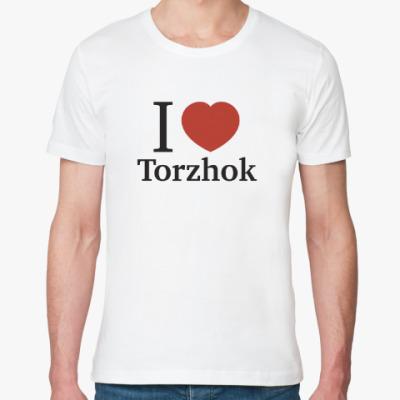 Футболка из органик-хлопка Я люблю Торжок