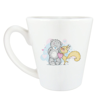 Чашка Латте Миша-Белка-Любовь