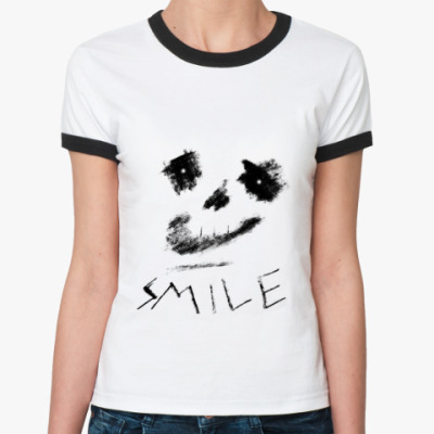 Женская футболка Ringer-T Smile