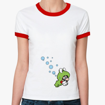 Женская футболка Ringer-T Mario