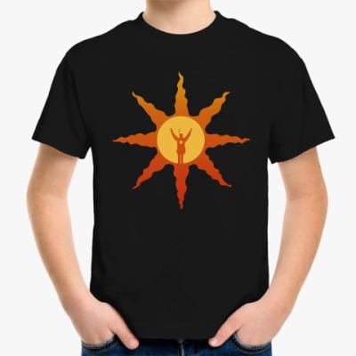 Детская футболка dark souls sun
