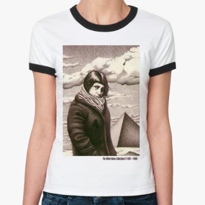 Женская футболка Ringer-T  WNC бел/чёрн