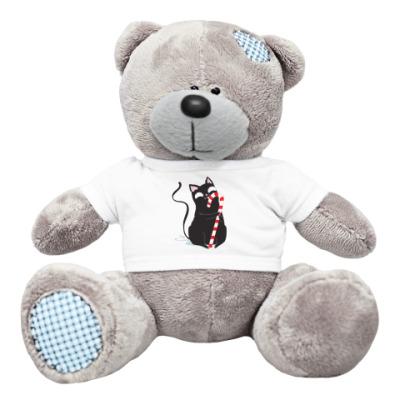 Плюшевый мишка Тедди Кот с конфетой