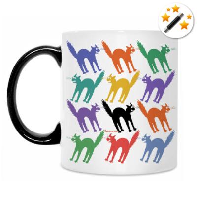 Кружка-хамелеон Разноцветные йошкины коты