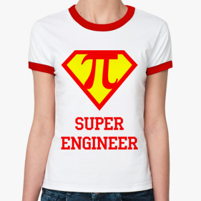 Женская футболка Ringer-T Superengineer 3
