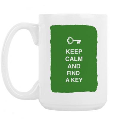 Кружка Keep calm and find a key