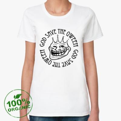 Женская футболка из органик-хлопка Trollface - Qween