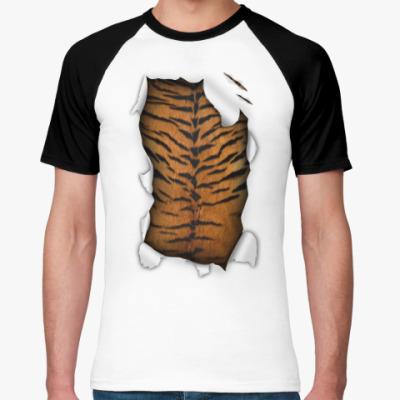 Футболка реглан 'Тигр'