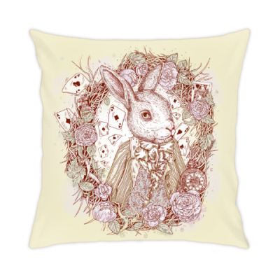 Подушка Белый Кролик