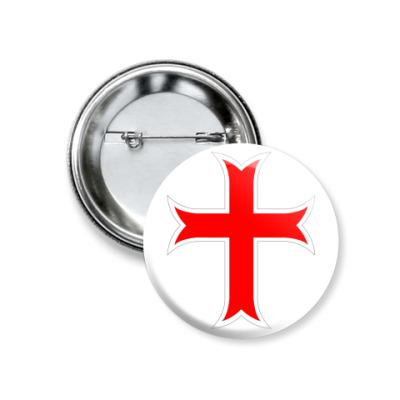 Значок 37мм Тамплиерский крест